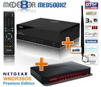 Mede8er MED500X2 - Mediaplayer + WLAN-Antenne und Router für 206 €