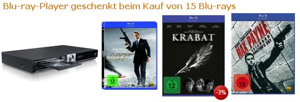 Blu-ray Player LG BD 370 beim Kauf von 15 Blu-rays kostenlos dazu