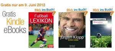 Amazon verschenkt Kindle eBooks - heute Kardinalspoker, Dumm kickt gut und Liebe, Schuss, Elfmeterkuss *Update*