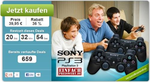 Zwei PS3 Dualshock Controller (wireless) für nur 39,95 Euro statt 68 Euro