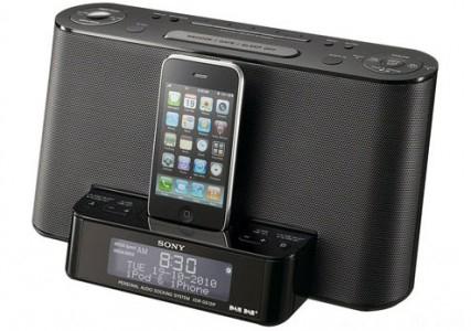 Lautsprecherdock Sony XDR-DS12iP mit DAB+-Empfänger für 77,77 € - 26% Ersparnis