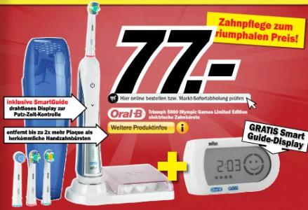 Oral-B Triumph 5000 mit Smart Guide für 72,77 € *Update*
