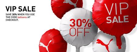 30% auf alle Artikel im VIP-Sale von Puma