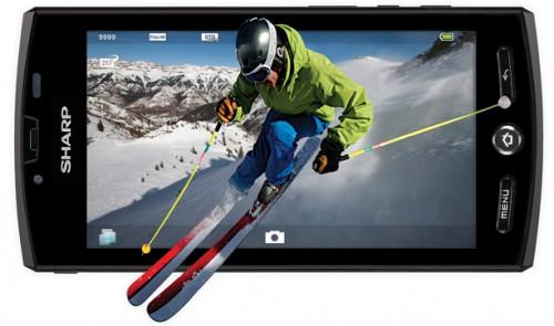 Smartphone mit 3D-Unterstützung - Sharp Aquos Phone SH-80F für 194 €