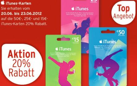 iTunes-Karten mit bis zu 20% Rabatt bei Karstadt, Telekom, Rossmann und mehr