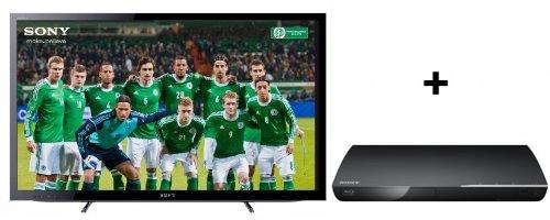 Sony KDL-32HX755 (3D, LED-Backlight, Triple-Tuner) + Blu-ray-Player für 629 €