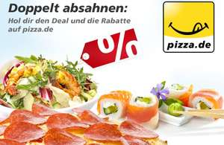 DailyDeal: 20 € Pizza.de-Gutschein für 9 € - auch für Bestandskunden