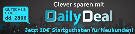 10 € DailyDeal-Gutschein für Neukunden - ohne Mindestbestellwert