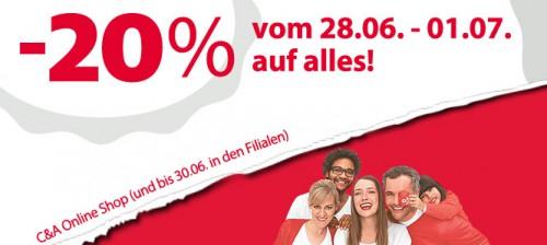 Sale bei C&A Österreich & zusätzlich 20% sparen bis 01. Juli