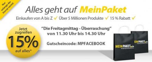 15% MeinPaket Gutschein auf das gesamte Sortiment *Update*
