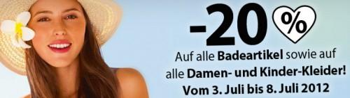 C&A Deutschland: 20% Rabatt auf Badeartikel und zusätzlich 20% sparen mit Gutschein