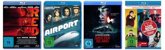 Filmschnäppchen bei Amazon - z.B. 2 Blu-rays für 15 € oder 6 DVDs für 20 €