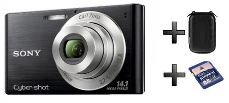 Kompaktkamera Sony CyberShot DSC-W550 mit 4 GB Speicher und Tasche für 90 € statt 133 €