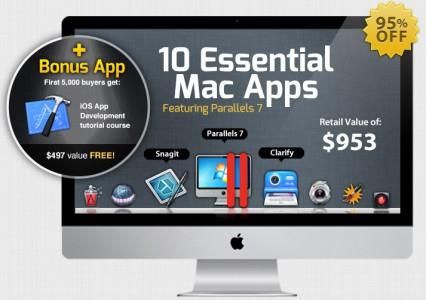 iStack Mac Bundle - 9 Anwendungen für Mac (Parallels 7, Snagit, etc.) für 41 €
