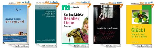 Amazon: 5 eBooks für den Kindle kostenlos herunterladen - nur heute