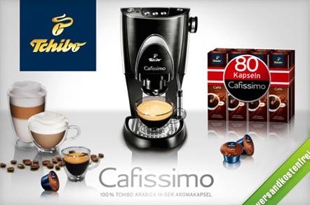 Kaffeemaschine Tchibo Cafissimo + 80 Kaffeekapseln für 49 € - 45% Ersparnis