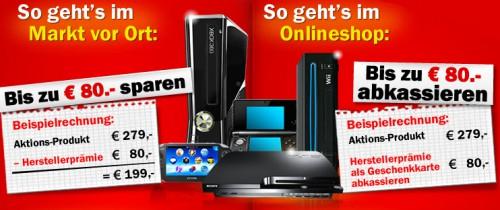 """Media Markt: """"Rückrufaktion für Spielekonsolen"""" - bis zu 80 € beim Konsolenkauf sparen"""