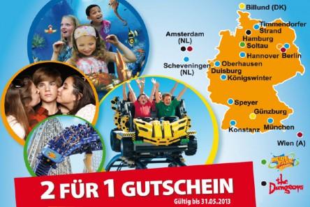 Punica: 2 für 1 Eintrittsgutschein für viele Freizeitparks und Attraktionen *Update*