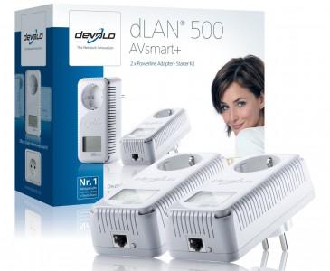 Devolo dLAN 500 AVsmart+ Starter Kit für 119 € - 15% Ersparnis