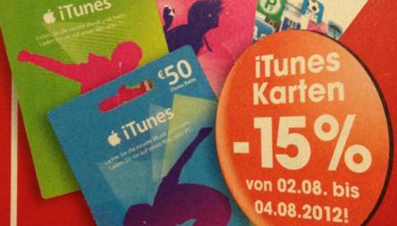 Libro: 15% Rabatt auf alle iTunes-Karten - bis 04. August