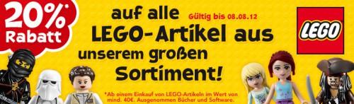 """20% Rabatt auf Lego-Artikel bei Toys""""R""""Us + weitere 10% Ersparnis für Neukunden"""