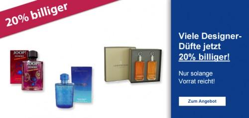 Schlecker: 20% Rabatt auf Parfums im Online-Shop
