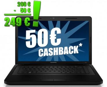 HP Compaq Presario CQ57-447SG für 307 € und 50 € Cashback - 16% Ersparnis