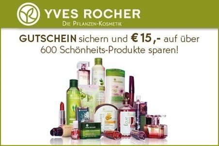 Groupon: Yves Rocher-Gutschein im Wert von 30 € für 15 €