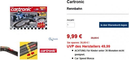 Schlecker-Ausverkauf: Viele Produkte ab 0,09 € - z.B. Cartronic Autorennbahn für 9,99 € statt 39,90 €