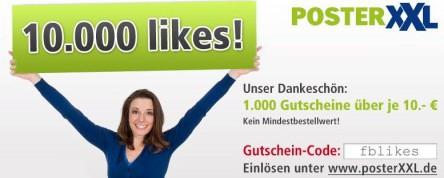 PosterXXL: 10 € Gutschein ohne Mindestbestellwert - z.B. Hardcover-Fotobuch für 5,99 €