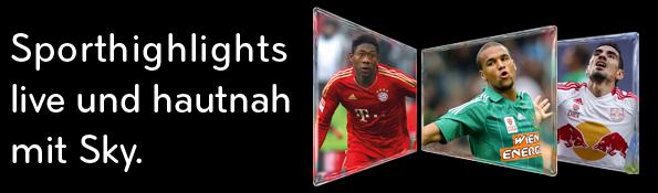 Sky Österreich: Sport-Austria und Bundesliga-Paket 1 Monat gratis für UPC-Kunden