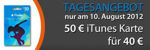 iTunes-Karte im Wert von 50 € für 40 € bei Müller - 20% Ersparnis