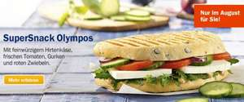 SuperSnack Olympos gratis in jedem Aral PetitBistro (für Facebook-Fans)