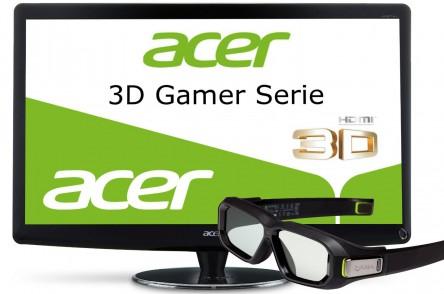 Acer HN274HBbmii – 3D-Monitor mit 27 Zoll & Nvidia 3D Shutter-Brille für 299 € *Update*