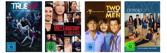 Filmangebote bei Amazon - z.B. Blu-rays für je 6,97 € oder 2 TV-Serien-Staffeln für 20 €