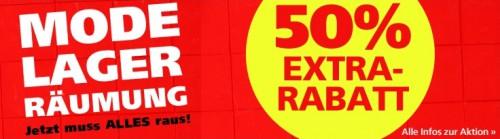 Mode-Lagerräumung bei Neckermann mit 50% Extra-Rabatt durch Gutschein