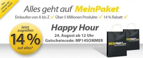 14% MeinPaket Gutschein auf das gesamte Sortiment *Update* heute wieder bis 18 Uhr!