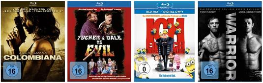 DVD- und Blu-ray-Angebote von Müller und Konter von Amazon - 4 DVDs für 24 €, 4 Blu-rays für 30 €