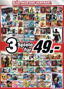 3 Spiele für 49 € bei Media Markt Deutschland & Konter von Amazon *Update*