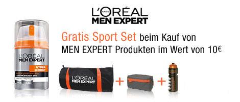 Amazon: Gratis Sport-Set beim Kauf von L'Oréal Men Expert-Artikeln ab 10 €