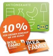 10% IKEA Einkaufsgutschein für Käufe ab 150 Euro