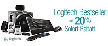 20% Rabatt beim Kauf von 2 Logitech-Produkten bei Amazon