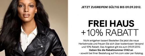 H&M: 10% Rabatt & kostenloser Versand für Herbstmode & zusätzlich sparen mit Gutschein