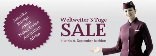 3 Tage-Sale bei Qatar Airways - z.B. München - Dubai für 399 € oder Wien - Bangkok für 515 €