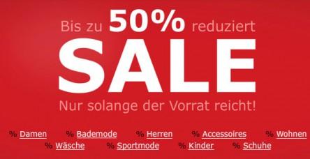 Ausverkauf bei BonPrix mit bis zu 50% Rabatt