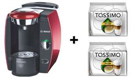 Top! Bosch Tassimo T42 + 16 Portionen Latte Macchiato für 49 € - 41% Ersparnis