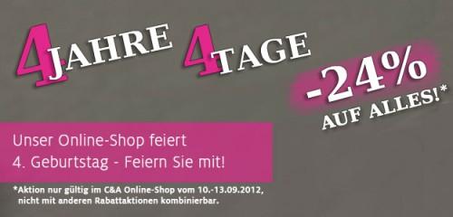 C&A Deutschland - 24% Rabatt auf alle Artikel im Online-Shop