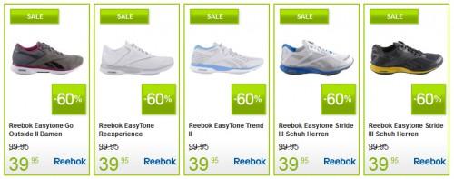Zahlreiche Sportschuhe von Reebok für 40,90 € bei Plutosport