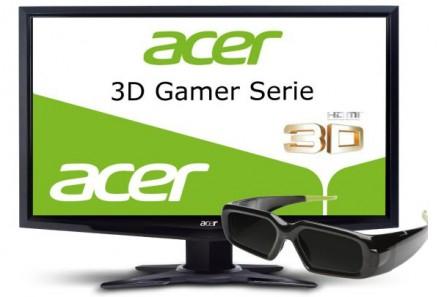 3D-Monitor Acer GD245HQAbid mit Shutter-Brille für 206 € bei Cyberport *Update* wieder verfügbar!
