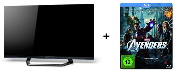 LG 32LM660S (3D, LED-Backlight, Triple-Tuner, Smart TV) + The Avengers 3D Blu-ray für 499 €